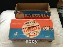 1953 Topps Baseball Card Set EMPTY Display Wax Pack Box 5 Cent