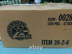 1996 Fleer X-men Retail Trading Card Factory Sealed Box (100 Packs) + 1 Set