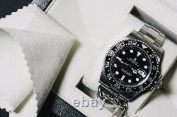 2012 Black Rolex GMT Master II 2 116710LN Full Set Complete Box Papers Card