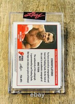 2021 Leaf Pro Set MIKE TYSON AUTO Card Very Rare Autograph Boxing Champ