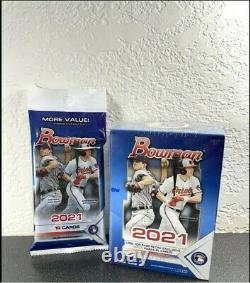 2021 Topps MLB Bowman Baseball Cards Blaster Box & Value Pack LOT OF 3 BRAND NEW