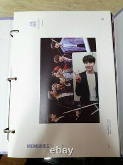 BTS Memories Of 2018 DVD Full Package Opened with J Hope Photo card Kpop