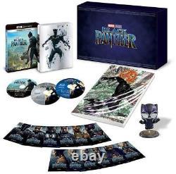 Black Panther 3D+4K+Blu Ray Steelbook GIFT SET 12 Character Cards Japan Region 1