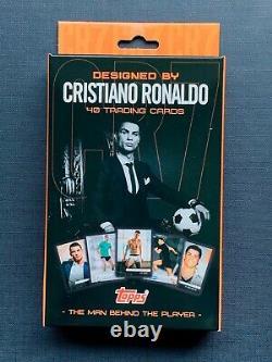 Cristiano RONALDO CR7 NEW 2020 Topps Box Art Curated Set GOLD CARD 1/1 AUTOGRAPH