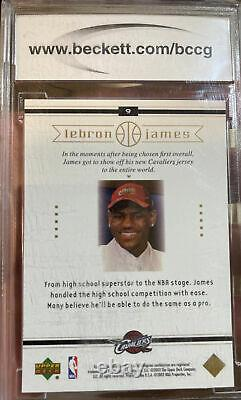 Iconic 2003 Upper Deck LeBron James Rookie Card #9 Box Set BCCG 10 Mint MVP