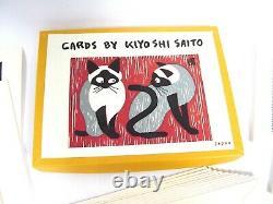 Kiyoshi Saito 12 Woodblock Print Cards Boxed Set 1950's Mint Condition