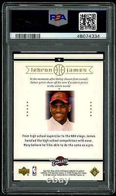 Lebron James Rookie Card 2003 Upper Deck Box Set #9 PSA 10