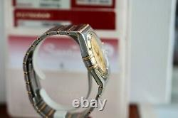 Omega Constellation Automatic Full Bar Gold & Steel 1302.10 Full Box Set & Cards