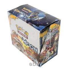 POKEMON SUN & MOON BASE SET SM01 BOOSTER BOX New & Sealed Cards in Hand