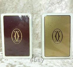 Rare Vintage Authentic must de Cartier Playing Cards x2 sets withBox Sealed Unused