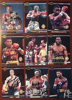 Ringlords Boxing Near Complete Signed Card Set (32/41) Muhammad Ali Holyfield