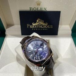 Rolex SkyDweller 326135 Rhodium Dial Full Set New Style Card 2020 Box & Papers