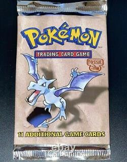 Sealed FOSSIL SET Pokemon Cards WOTC Booster Pack BOX FRESH UNWEIGHED (CS2)