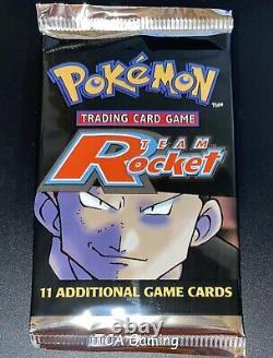 Sealed TEAM ROCKET SET Pokemon Cards WOTC Booster Pack BOX FRESH UNWEIGHED (CS2)