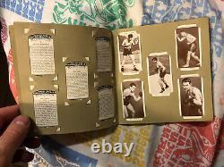 Vintage 1938 Churchman Boxing Card Album Set Jack Johnson Dempsey Joe Louis Nice
