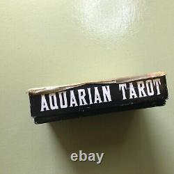 Vintage 1970 Aquarian Tarot Cards Deck Set Box Book Morgan Press Blue Palladini