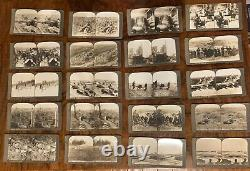 World War 1 European War Boxed Set Underwood And Underwood 59 Stereoview Cards